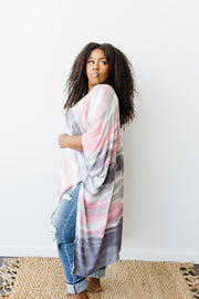 Sunset Streaked Kimono - In House - Simply Sass Boutique