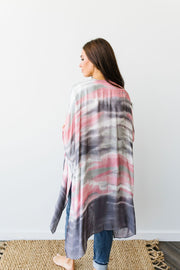 Sunset Streaked Kimono - In House - Women's Clothing AfterPay Sezzle KanCan Judy Blue Simply Sass Boutique