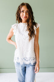 Sweet Sophisticate Lace Blouse - Women's Clothing AfterPay Sezzle KanCan Judy Blue Simply Sass Boutique