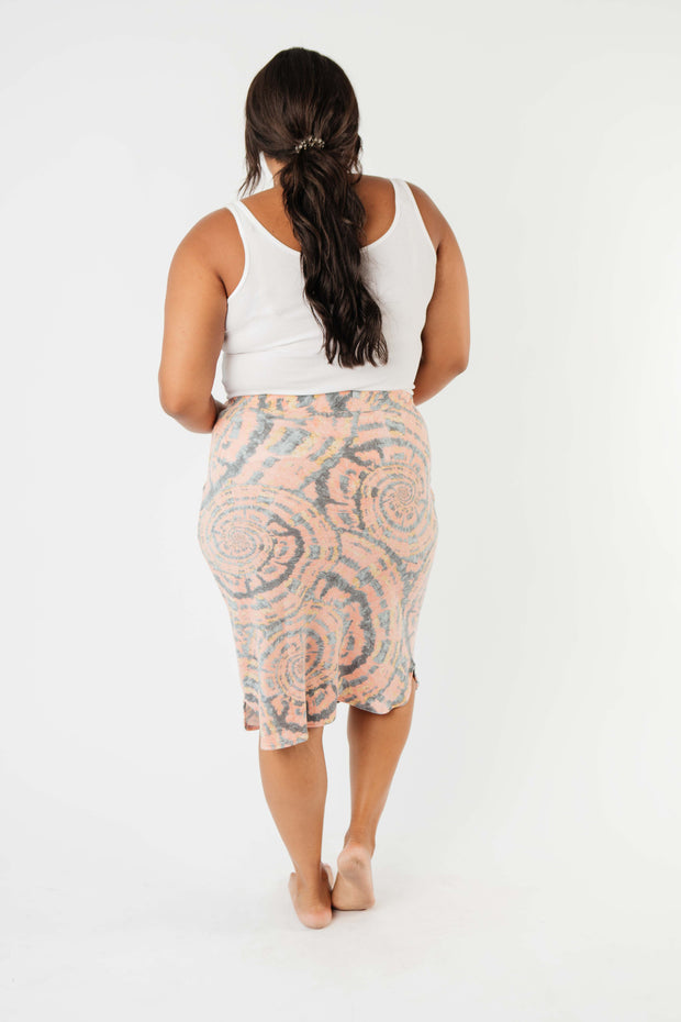 Swirl Power Drawstring Skirt - Women's Clothing AfterPay Sezzle KanCan Judy Blue Simply Sass Boutique