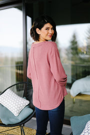 The Ashley Top in Mauve - Women's Clothing AfterPay Sezzle KanCan Judy Blue Simply Sass Boutique
