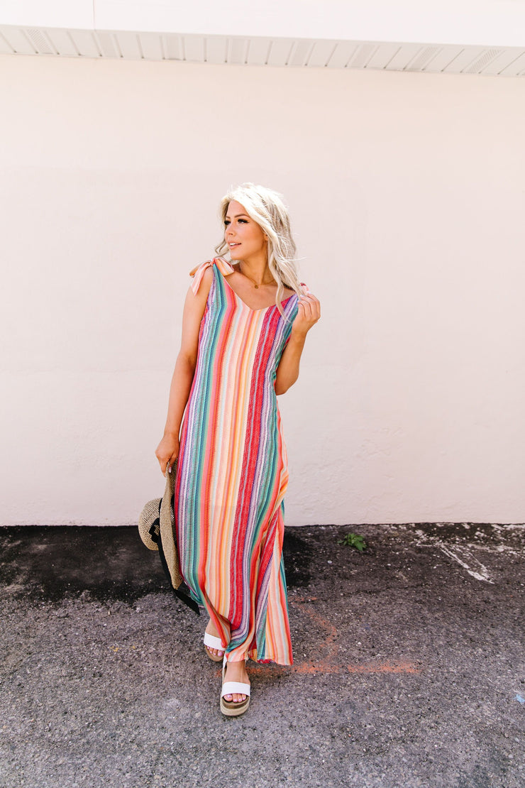 The World Is Your Rainbow Maxi Dress - Women's Clothing AfterPay Sezzle KanCan Judy Blue Simply Sass Boutique