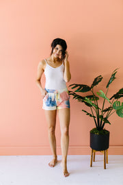 Tie The Knot Shorts In Coral - Women's Clothing AfterPay Sezzle KanCan Judy Blue Simply Sass Boutique