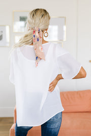 Tulip Sleeve Blouse In Ivory - Women's Clothing AfterPay Sezzle KanCan Judy Blue Simply Sass Boutique