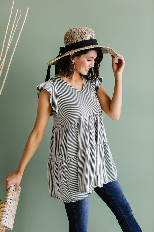 Two Timin' Babydoll Tunic - Women's Clothing AfterPay Sezzle KanCan Judy Blue Simply Sass Boutique