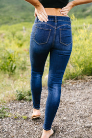 Push Up Jeans In Dark Wash - Simply Sass Boutique