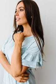 Vertical Horizon Striped Top In Blue - Women's Clothing AfterPay Sezzle KanCan Judy Blue Simply Sass Boutique