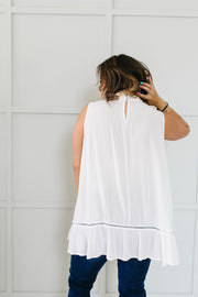 Victoria Lace Mock Neck Top In Ivory - 6/2/2020 - Women's Clothing AfterPay Sezzle KanCan Judy Blue Simply Sass Boutique