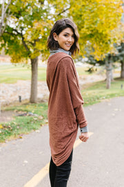 Waffle Knit Slouchy Cardi In Rust - Women's Clothing AfterPay Sezzle KanCan Judy Blue Simply Sass Boutique