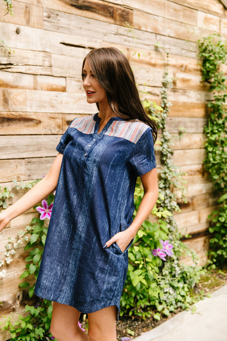 Wannabe Denim Dress - Women's Clothing AfterPay Sezzle KanCan Judy Blue Simply Sass Boutique