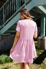 Wee Floral Babydoll Dress In Pink - Simply Sass Boutique