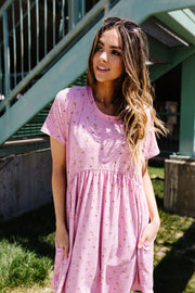 Wee Floral Babydoll Dress In Pink - Women's Clothing AfterPay Sezzle KanCan Judy Blue Simply Sass Boutique