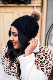 What The Fuzz Beanie In Black - Simply Sass Boutique