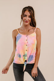 Wild N Tie Dyed Tank In Indigo - Simply Sass Boutique