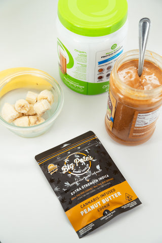 EXTRA STRENGTH INDICA Peanut Butter Cookie 100mg THC Protein Shake