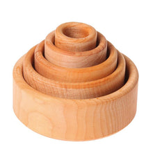 Grimms, Natural, Stacking, Bowls, Wood, Wooden toy,