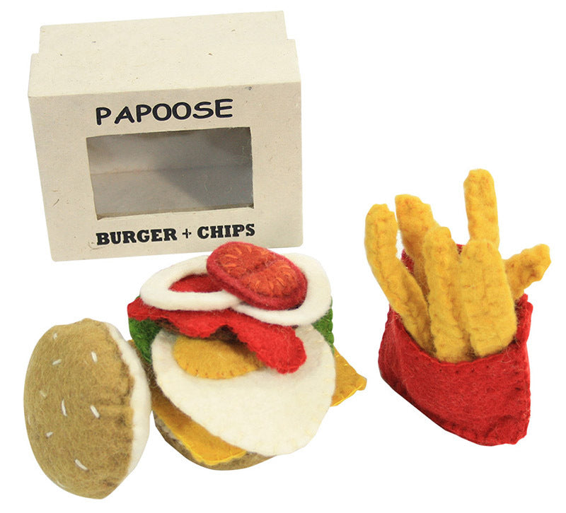 Burger and Chips Set