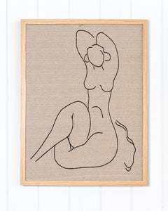 Linen Embroidered Figure (A) - Premium Edition Art