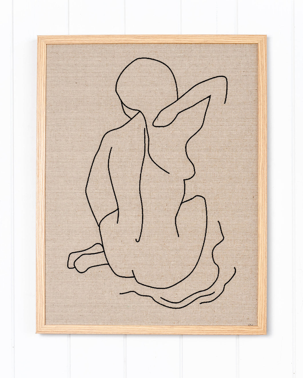 Linen Embroidered Figure (B) _ Premium Edition Art
