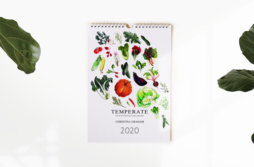 2020 Calendar - Temperate Planting Guide