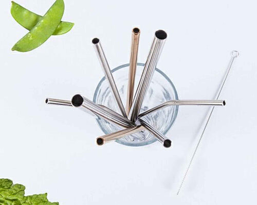 Metal Straws - 6 Pack