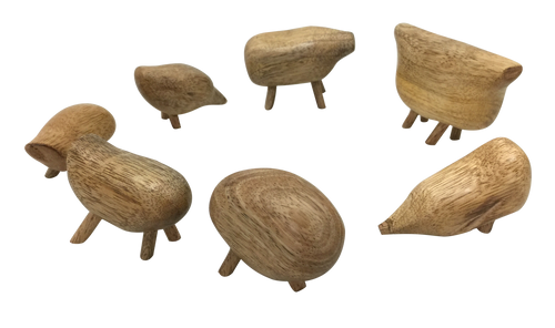 Wooden Pebble Animals