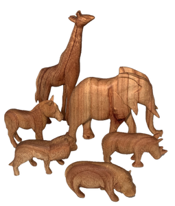 Natural Wooden African Animals