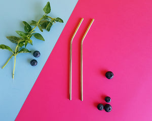 Metal Straw - 2 Pack (choose between regular, smoothie or cocktail)