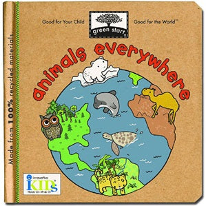 Animals Everywhere - Green Start Book
