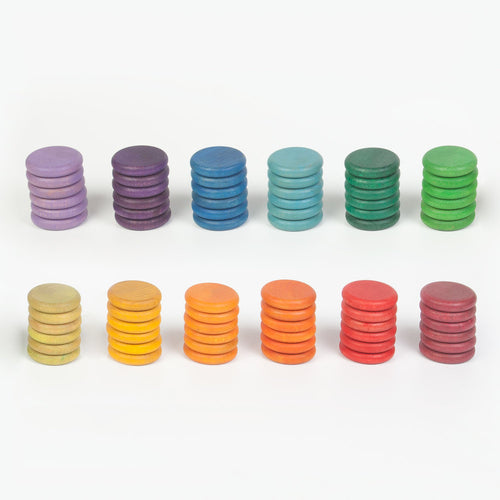 Coloured Coins - Set of 72