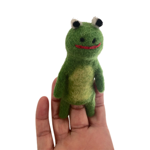 Rabbit & Frog Finger Puppet Set