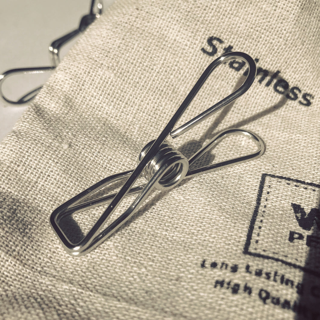 Hemp Bag of Pegs - Grade 201ss 1.75mm