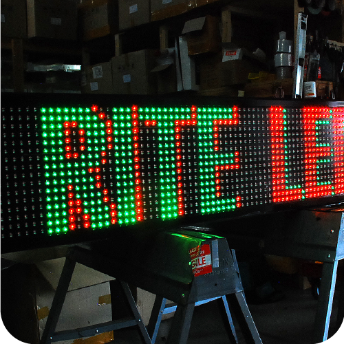 Tri Color LED Sign
