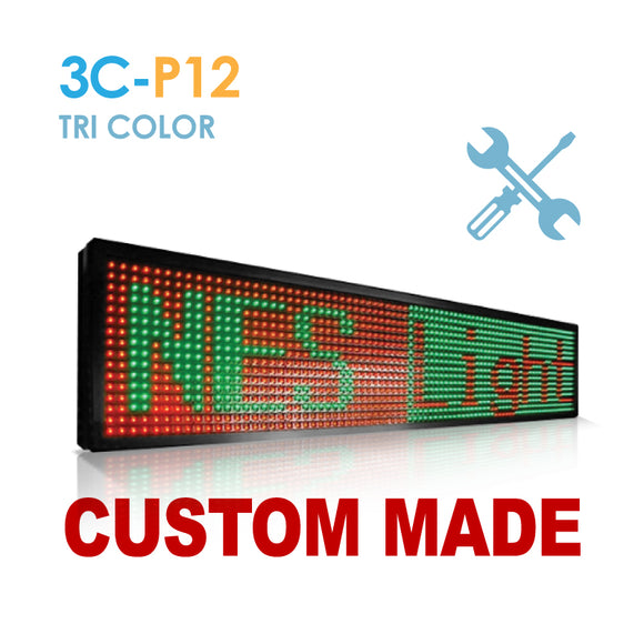 Custom Size NES P12 Tri Color Remote Digital LED Sign(3C-P12)