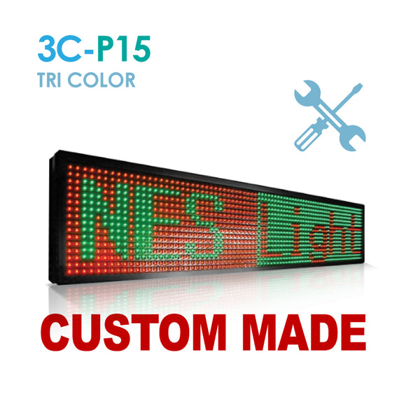 Custom Size NES P15 Tri Color Remote Digital LED Sign(3C-P15)