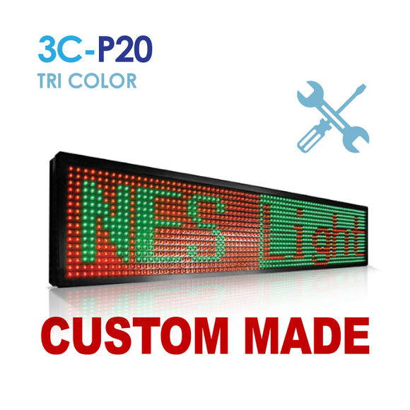 Custom Size NES P20 Tri Color Remote Digital LED Sign(3C-P20)