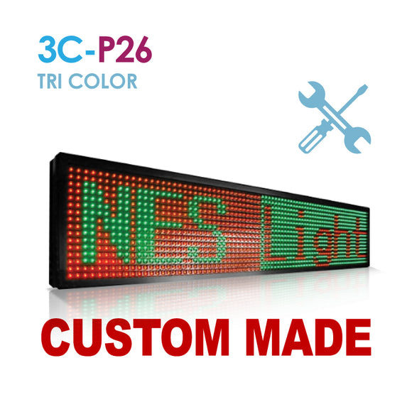 Custom Size NES P26 Tri Color Remote Digital LED Sign(3C-P26)