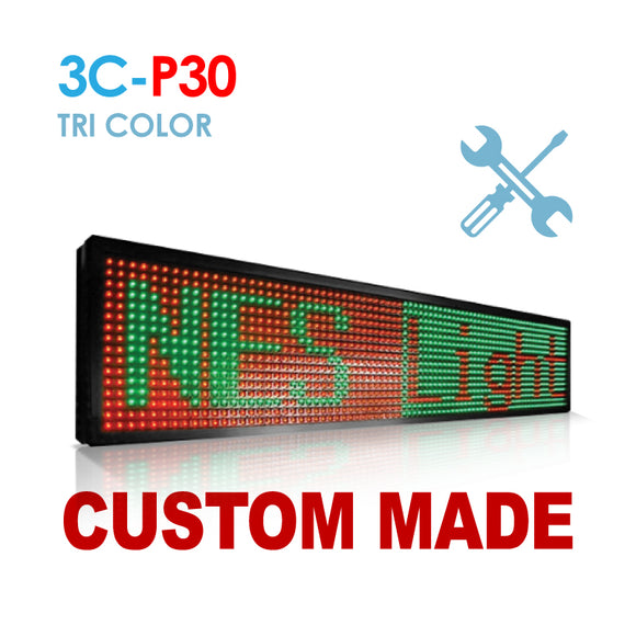 Custom Size NES P30 Tri Color Remote Digital LED Sign(3C-P30)