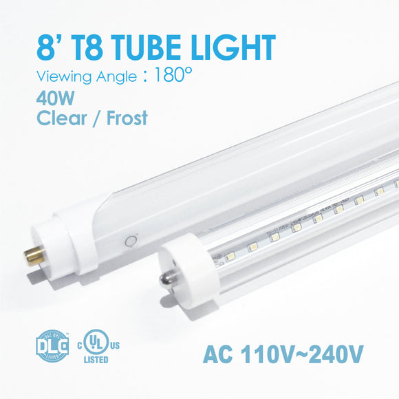 TUBE Light 8FT 40Watt T8 5,000K/6,000K Clear /Frost