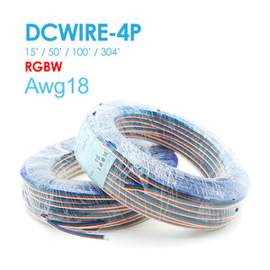 NC LED DC WIRE 4P RGBW 15FT/50FT/100FT/304FT AWG18 UL