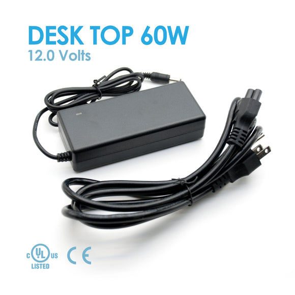 Desk Top 60W 12V 5A, Indoor Power supply