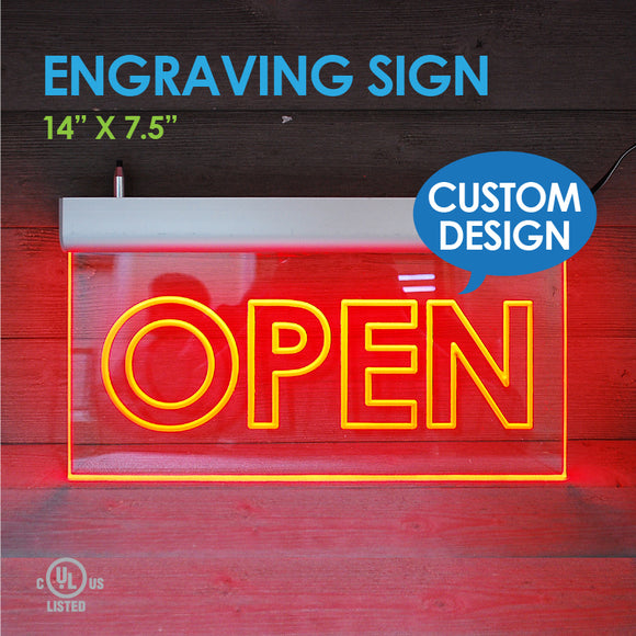 Custom Design ENGRAVING LED SIGN 14
