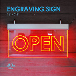 "ENGRAVING LED SIGN 14"" X 7.5"""