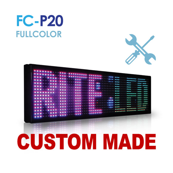 Custom Size NES P20 Fullcolor Remote Digital LED Sign(FC-P20)