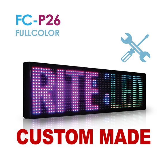 Custom Size NES P26 Fullcolor Remote Digital LED Sign(FC-P26)