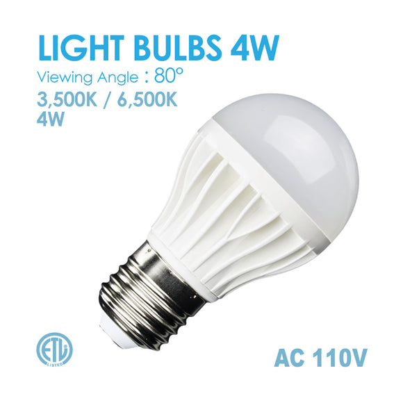 LED BULBS 9W A19 E27 Base 3000K/6000K AC110V