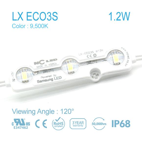NC LED 1.2W 120Angle 9500K Samsung LED (LX-ECO3S) 50EA