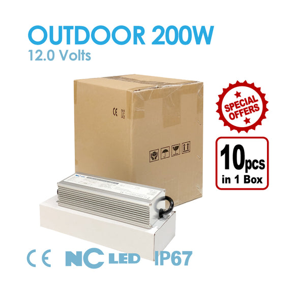 NC LED 200W-12V Outdoor Power Supply 1 box (10pcs)
