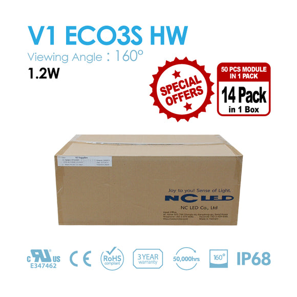 NC LED 3Lamps 1.2W 160Angle 6,500K/9,500K Samsung LED (V1 ECO3S HW) 1BOX(700PCS)