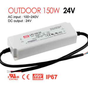 Mean Well LED Switching Power Supply - LPV Series 150W Single Output LED Power Supply - 24V DC